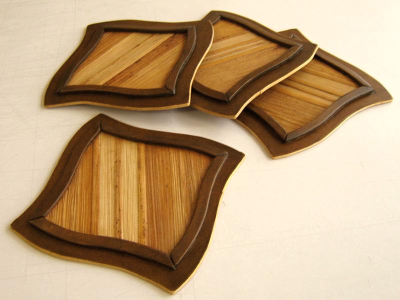 portavasos en madera y calceta de plátano portavasos en madera y ...