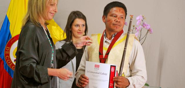 Rodrigo López, representante de la comunidad Cubay de Mitú, Vaupés