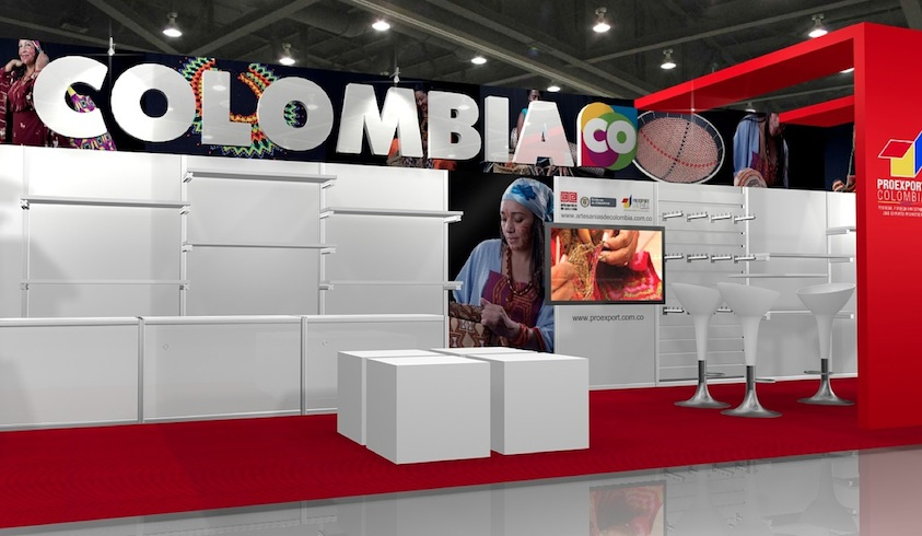 "Stand Artesanías de Colombia en la feria ""New York Now"""